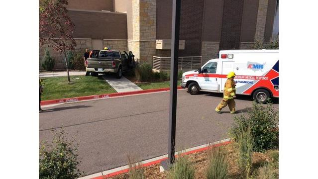 Pickup truck crashes into northeastern Colorado Springs gym
