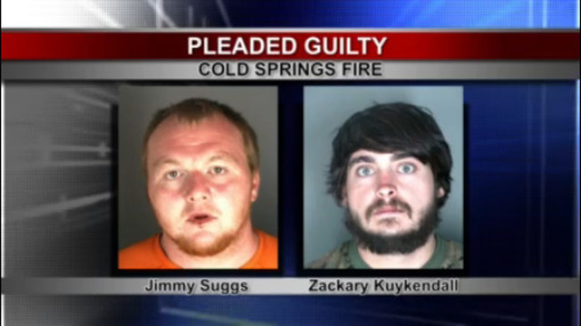 Campers who started Cold Springs Fire plead guilty to arson