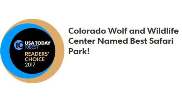 Colorado Wolf and Wildlife Center named #1 Best Safari Park in US