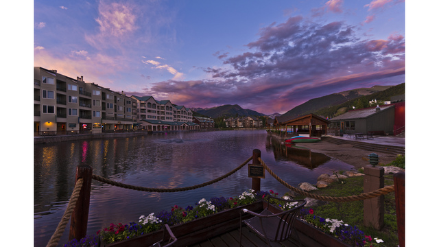 Lakeside Village in evening in summer_269451