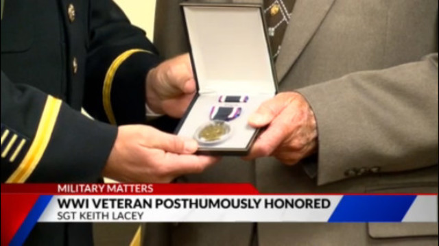 WWI veteran posthumously honored for his sacrifices