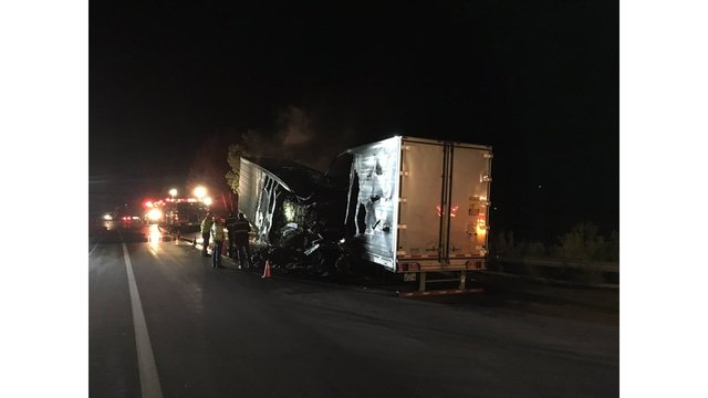 Driver escapes injury after semi catches fire on Monarch Pass