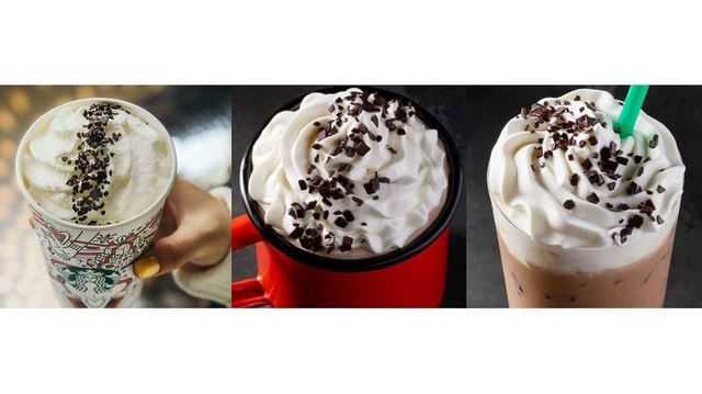 Starbucks releases black-and-white beverages for the New Year