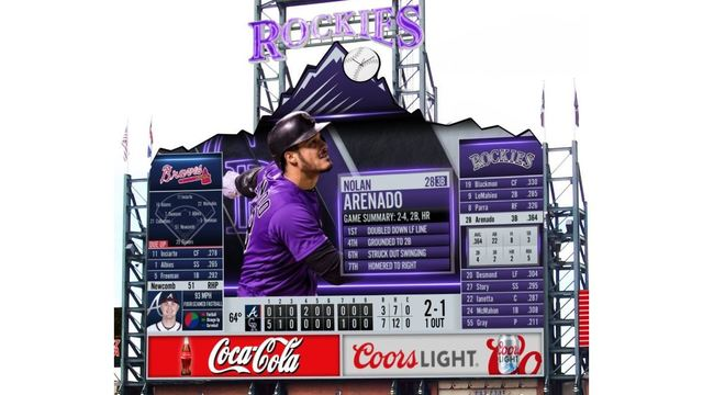 Colorado Rockies unveil rendering of new Coors Field scoreboard