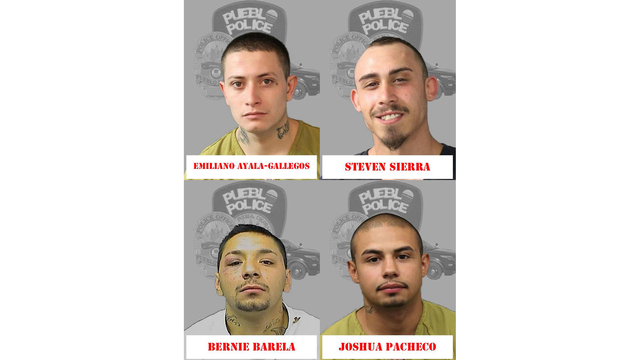 Police Arrest Four In Connection With Gang Related Incidents In Pueblo