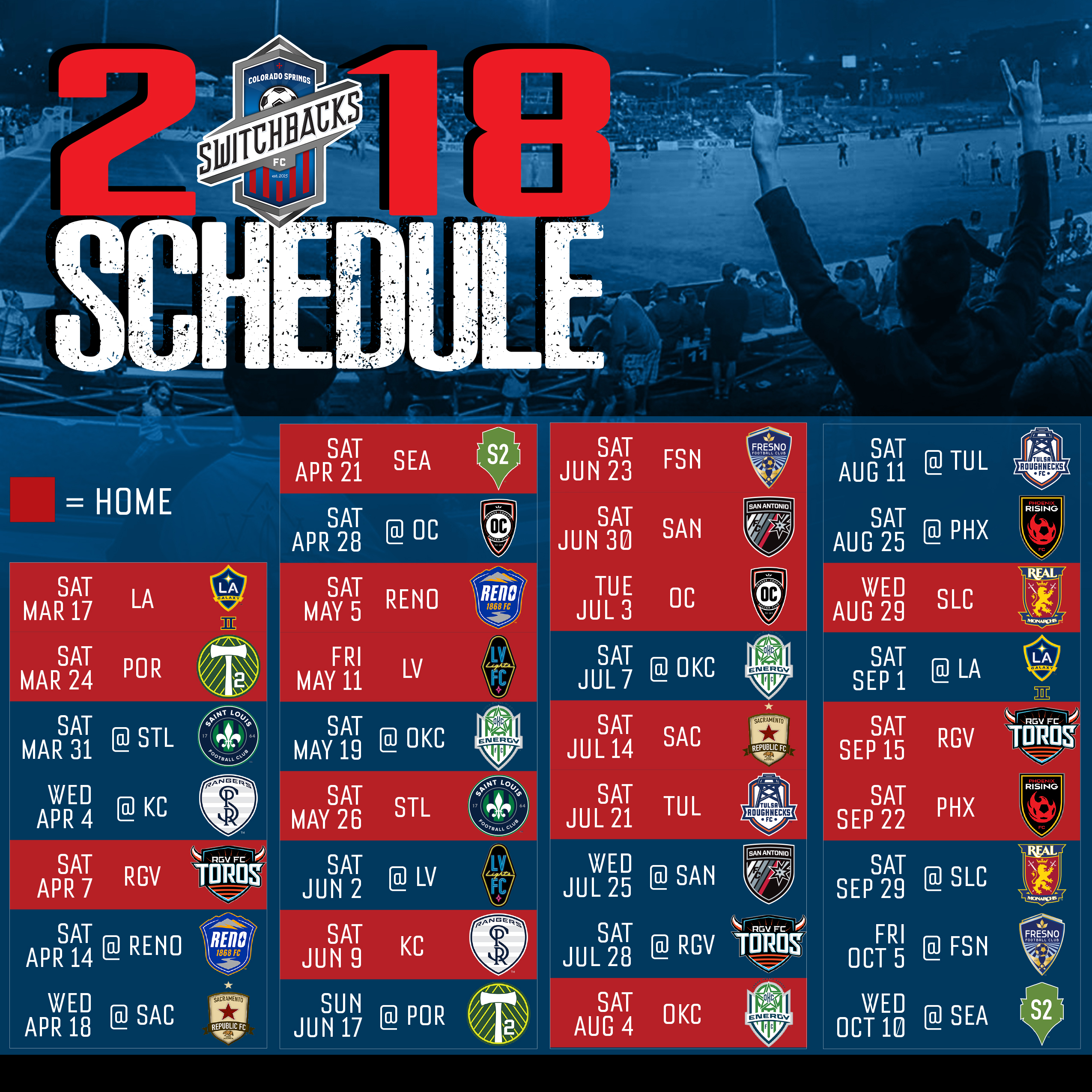 switchbacks fc schedule