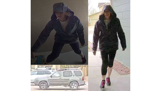 Police looking for woman who followed delivery truck around Fountain, stole packages