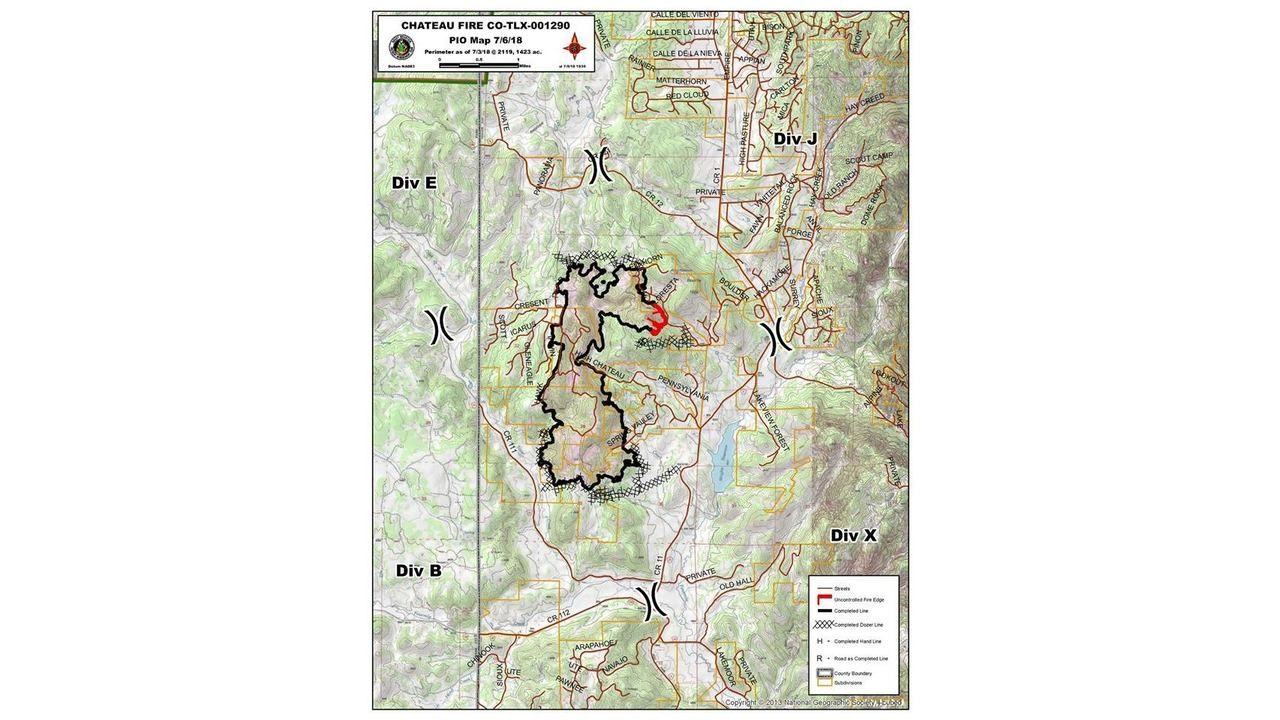 High Chateau Fire Day 8 All Roads Reopened 95 Percent Contained