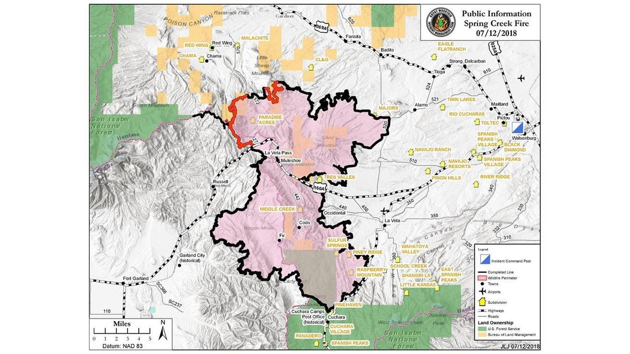 Spring Fire Now 91 Percent Contained All Huerfano County Evacuees