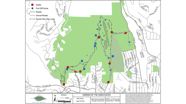 city to install gates at garden of the gods park preventing overnight vehicle access - Garden Of The Gods Map
