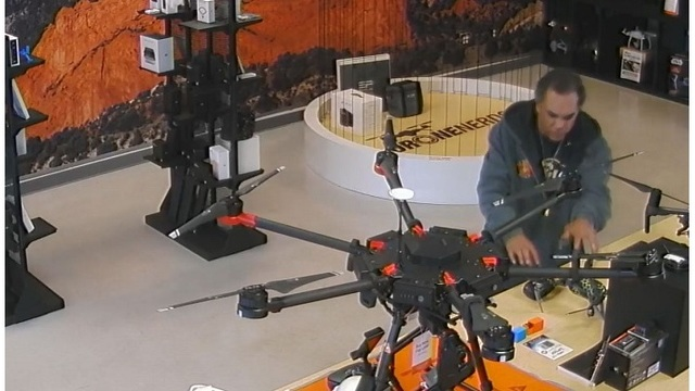 CAUGHT ON CAMERA: Man takes off with $1,000 drone