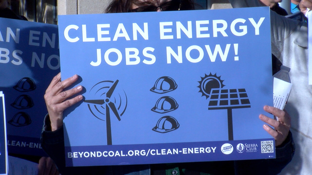 Renewable energy advocates rally at CSU meeting