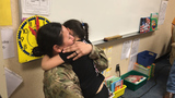 Returning soldier surprises daughter at Widefield elementary school