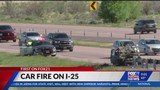 Car fire slows interstate traffic south of the Springs